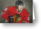 Pads Drawings Greeting Cards - Patrick Kane Greeting Card by Brian Schuster