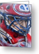 Montreal Hockey Greeting Cards - Patrick Roy ... Greeting Card by Juergen Weiss