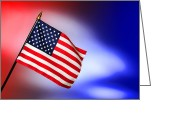 "\""old Glory\\\"" Greeting Cards - Patriotic American Flag Greeting Card by Olivier Le Queinec"