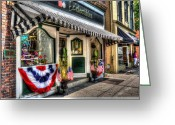 4th Of July Photo Greeting Cards - Patriotic Street Greeting Card by Debbi Granruth