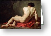 Neo-classical Greeting Cards - Patrocles Greeting Card by Jacques Louis David