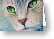 Kitty Greeting Cards - Pats Cat Greeting Card by Brian  Commerford