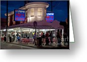Famous Landmark Greeting Cards - Pats Steaks Greeting Card by John Greim