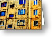 Abstract Building Greeting Cards - Pattern Greeting Card by Jeff Barrett