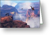 Canyon Greeting Cards - Patterns of Grandeur Greeting Card by Dieter Carlton