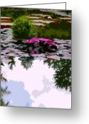 Reflections In Water Greeting Cards - Patterns of Peace Greeting Card by John Lautermilch