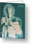 Music Legends Greeting Cards - Patti Smith Greeting Card by Nelson Garcia