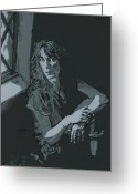 Singer Songwriter Greeting Cards - Patti Smith Greeting Card by Suzanne Gee