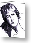 Paul Mccartney Drawings Greeting Cards - Paul  Greeting Card by David Ritsema