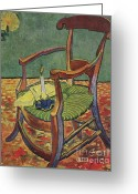 Van Painting Greeting Cards - Paul Gauguins Armchair Greeting Card by Extrospection Art