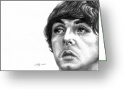 Celebrities Drawings Greeting Cards - Paul Greeting Card by Kathleen Kelly Thompson