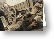 Defence Greeting Cards - Paul Kruger Greeting Card by Unknown