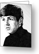 Paul Mccartney Drawings Greeting Cards - Paul McCartney 1964 Greeting Card by Sheryl Unwin