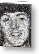 Paul Mccartney Greeting Cards - Paul McCartney Beatles Mosaic Greeting Card by Paul Van Scott