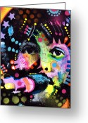 Beatles Painting Greeting Cards - Paul McCartney Greeting Card by Dean Russo