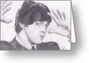 Paul Mccartney Drawings Greeting Cards - Paul McCartney Greeting Card by Ethan Morehead