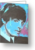 Paul Mccartney Drawings Greeting Cards - Paul McCartney Single Greeting Card by Eric Dee
