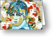 Paul Mccartney Drawings Greeting Cards - Paul McCartney Greeting Card by Suzanne Gee