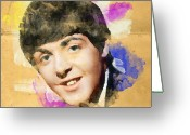 Paul Mccartney Drawings Greeting Cards - Paul Mccartney Tribute Greeting Card by Megan Johnson