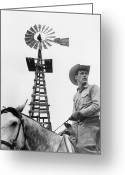 Cowboy Hat Photo Greeting Cards - Paul Newman (1925-2008) Greeting Card by Granger