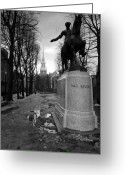 Boston Greeting Cards - Paul Revere Greeting Card by Andrew Kubica