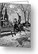 Secrecy Greeting Cards - Paul Revere, Midnight Ride, April 18th Greeting Card by Photo Researchers