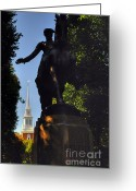 Paul Revere Greeting Cards - Paul Revere Statue Greeting Card by Joann Vitali