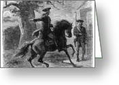 Paul Revere Greeting Cards - Paul Reveres Ride, 1775 Greeting Card by Granger