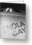 Little Boy Greeting Cards - Paul Tibbets In The Enola Gay Greeting Card by War Is Hell Store