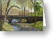 Carversville Greeting Cards - Paunacussing Creek  Carversville Greeting Card by Aurelia Nieves-Callwood