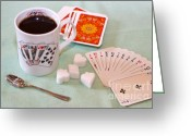 Spades Greeting Cards - Pause for coffee Greeting Card by Louise Heusinkveld