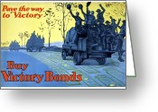 Great Mixed Media Greeting Cards - Pave The Way To Victory Greeting Card by War Is Hell Store