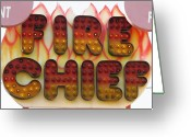 Amusement Ride Greeting Cards - Pavilion Fire Chief Greeting Card by Kelly Mezzapelle