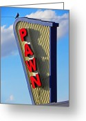 Old Sign Greeting Cards - Pawn It Greeting Card by Elizabeth Hoskinson