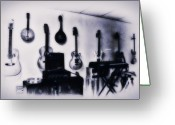 Pawn Greeting Cards - Pawn Shop Guitars Greeting Card by Bill Cannon