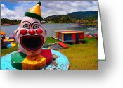 Guatape Greeting Cards - Payaso Basura Greeting Card by Skip Hunt