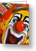 Clown Greeting Cards - Payaso Greeting Card by Skip Hunt