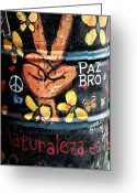 Can Art Greeting Cards - Paz Bro Greeting Card by John Rizzuto