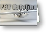 Cinema 4d Greeting Cards - PBY Catalina Greeting Card by Dale Jackson