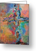 Freedom Painting Greeting Cards - Peace Accord Greeting Card by Deb Magelssen