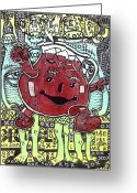 Lowbrow Mixed Media Greeting Cards - Peace Aid Greeting Card by Robert Wolverton Jr