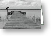 Giclee Photo Greeting Cards - Peace and Serenity II-black and white Greeting Card by Suzanne Gaff