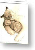 Protector Drawings Greeting Cards - Peace Greeting Card by Becky Yates