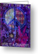 N Framed Prints Greeting Cards - Peace Greeting Card by John Goldacker