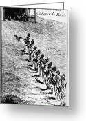 Ceremony Greeting Cards - Peace Pipe Ceremony, 1718 Greeting Card by Granger