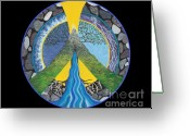 Spiritual Greeting Cards - Peace Portal Greeting Card by Tree Whisper Art - DLynneS