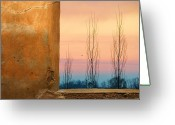 Stucco Walls Greeting Cards - Peace With Imperfections Greeting Card by Jan Amiss Photography