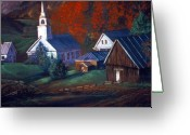 Purples Pastels Greeting Cards - Peaceful Dwellings Greeting Card by Tommy  Winn