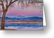 Meeker Greeting Cards - Peaceful Early Morning First Light Longs Peak View Greeting Card by James Bo Insogna