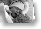 Slumber Greeting Cards - Peaceful Greeting Card by Karen Lewis